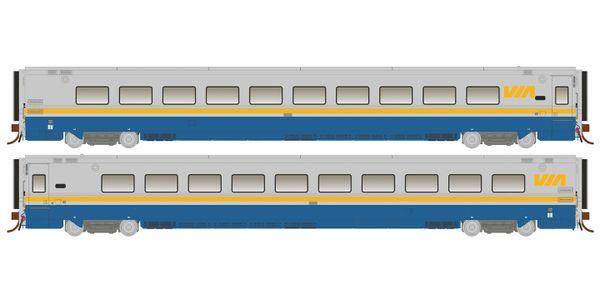 Rapido Ho Scale Via Rail Original Scheme LRC Coach Un-numbered *Reservation*