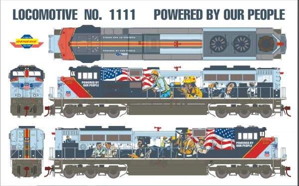 """Athearn Genesis Ho Scale Union Pacific SD70ACe """"Powered By Our People"""" Paint Scheme DCC & Sound *Reservation*"""