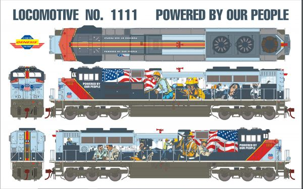 """Athearn Genesis Ho Scale Union Pacific SD70ACe """"Powered By Our People"""" Paint Scheme DCC Ready *Reservation*"""