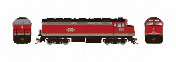 Rapido Ho Scale Agawa Canyon Tour Trains F40PH Phase II W/Ditchlights DCC & Sound *Reservation*