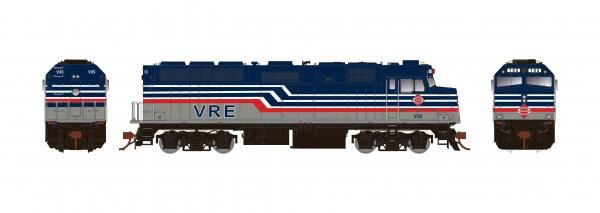 Rapido Ho Scale Virginia Railway Express F40PH Phase II W/Ditchlights DCC & Sound *Reservation*