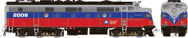 Rapido Ho Scale Metro North Red and Blue Modernized FL9 W/Ditchlights DCC Ready