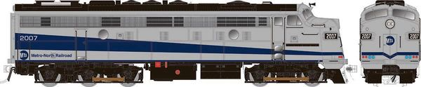 "Rapido Ho Scale Metro North Silver and Blue ""Stealth Scheme"" Modernized FL9 W/Ditchlights DCC & Sound *Reservation*"