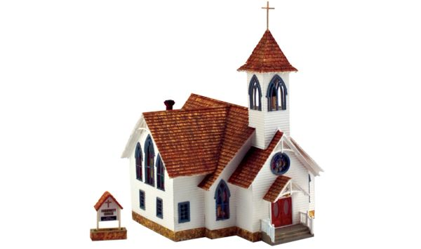 Woodland Scenics HO Scale Built & Ready Community Church