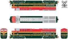 Scaletrains Rivet Counter Ho Scale ET44AC Kansas City Southern/Belle DCC & Sound *Pre-order*