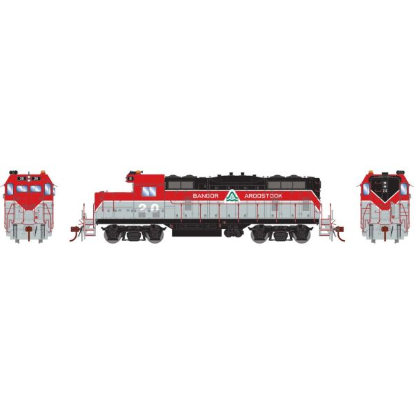 Athearn Genesis Ho Scale Bangor & Arrostock GP7 DCC Ready *Reservation*