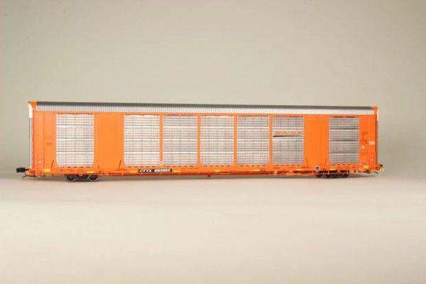 Scaletrains Rivet Counter Ho Scale Gunderson Multi-Max Autorack BNSF/Orange *Pre-order*