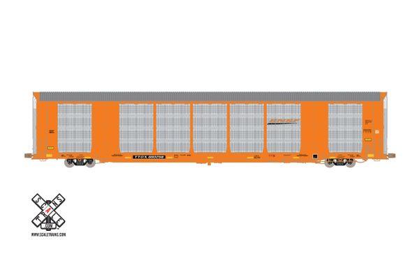 Scaletrains Operator Ho Scale Gunderson Multi-Max Autorack BNSF/Orange/TTGX *Pre-order