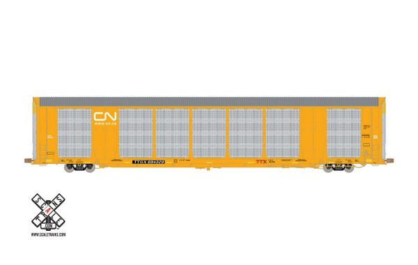 Scaletrains Operator Ho Scale Gunderson Multi-Max Autorack Canadian National (CN)/White Logo/TTGX *Pre-order