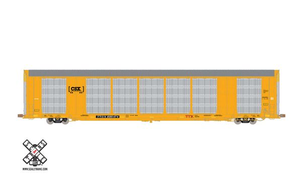 Scaletrains Operator Ho Scale Gunderson Multi-Max Autorack CSX/Boxcar Logo/TTGX *Pre-order