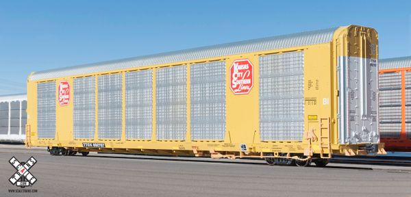 Scaletrains Operator Ho Scale Gunderson Multi-Max Autorack Kansas City Southern/Yellow/TTGX *Pre-order