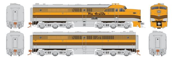 Rapido Ho Scale Denver & Rio Grande ALCO PA-1 Set DCC Ready *Reservation*