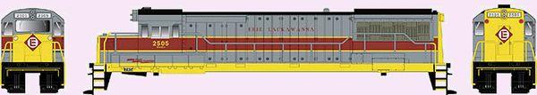 Bowser HO Scale GE U25B Erie Lackawanna #2510 DCC Ready