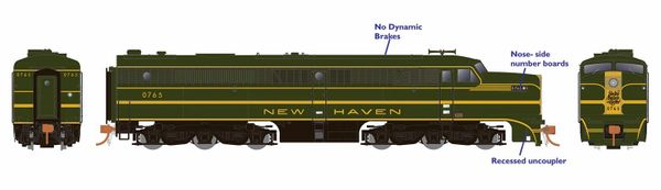 Rapido Ho Scale New Haven ALCO PA-1 DCC Ready *Reservation*