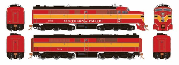 Rapido Ho Scale Southern Pacific Daylight ALCO PA-2 Set #6037 & 5918 DCC & Sound *Reservation*