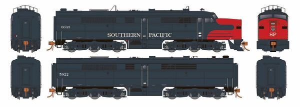 Rapido Ho Scale Southern Pacific Bloody Nose ALCO PA-2 Set DCC & Sound *Reservation*