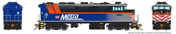 Rapido Ho Scale Metra F59PH DCC & Sound *Reservation*