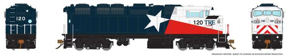 Rapido Ho Scale TRE (Lone Star Solid Blue) F59PH DCC & Sound *Reservation*