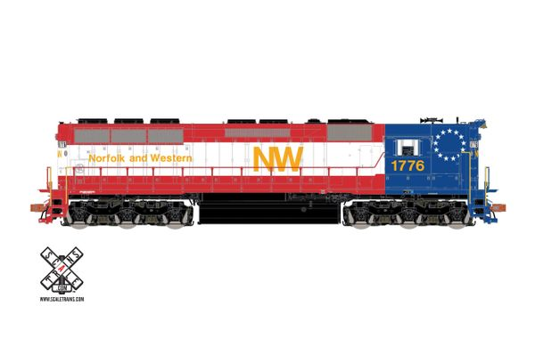 Scaletrains Rivet Counter Ho Scale SD45 Norfolk & Western (Bi-Centennial) #1776 DCC & Sound *Pre-order*