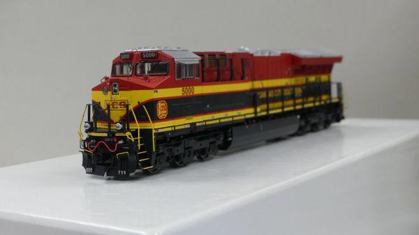 Scaletrains Rivet Counter Ho Scale ET44AC Kansas City Southern/Belle DCC Ready