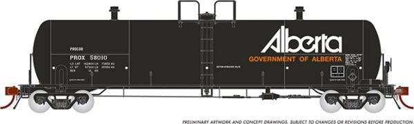 "Rapido HO Scale Procor 20K ""GP20"" Procor w/ Alberta Logo (PROX, late) (6 Pack) *Reservation*"
