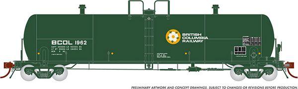 "Rapido HO Scale Procor 20K ""GP20"" British Columbia Railway (4 Pack) *Reservation*"
