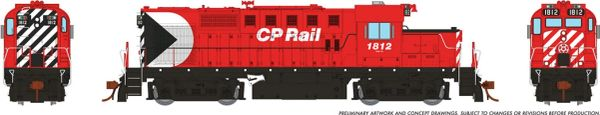 Rapido Ho Scale MLW RS18U CP Rail W/ Multimark DCC & Sound *Reservation*