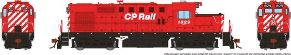 Rapido Ho Scale MLW RS18U CP Rail W/O Multimark DCC Ready *Reservation*