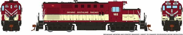 Rapido Ho Scale MLW RS18U Ontario Southland OSR DCC & Sound *Reservation*