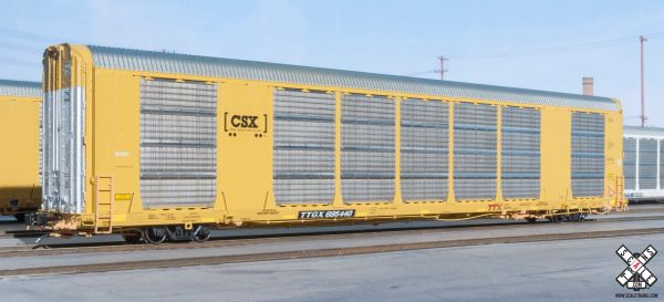 Scaletrains Rivet Counter Ho Scale Gunderson Multi-Max Autorack CSX/Boxcar Logo/TTGX