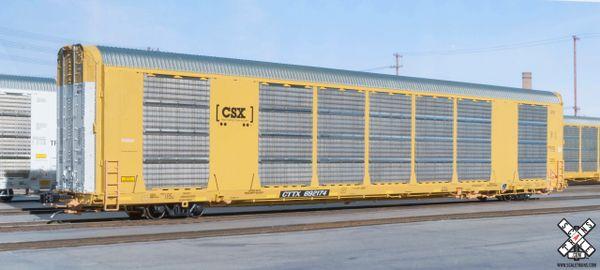 Scaletrains Rivet Counter Ho Scale Gunderson Multi-Max Autorack CSX/Boxcar Logo/CTTX