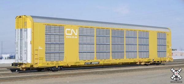 Scaletrains Rivet Counter Ho Scale Gunderson Multi-Max Autorack Canadian National (CN) White logo