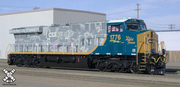 """Scaletrains Rivet Counter Ho Scale ES44AH CSX """"Honoring Veterans"""" Paint Scheme #1776 DCC & Sound *Reservation*"""