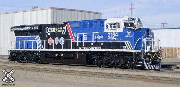 """Scaletrains Rivet Counter Ho Scale ES44AH CSX """"Honoring Law Enforcement"""" Paint Scheme #3194 DCC Ready *Reservation*"""