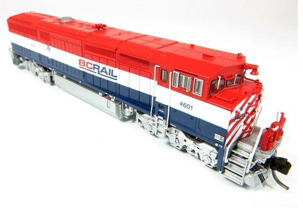 Rapido N Scale Dash 8-40CM British Columbia Railway DCC & Sound W/Ditchlights