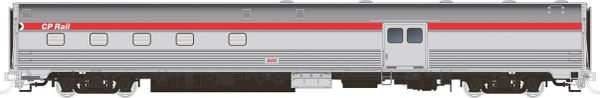 Rapido HO Scale Budd Baggage-Dorm CP Rail Action Red *Reservation*