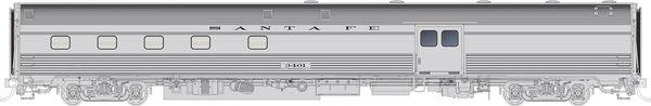 Rapido HO Scale Budd Baggage-Dorm Santa Fe (ATSF) *Reservation*