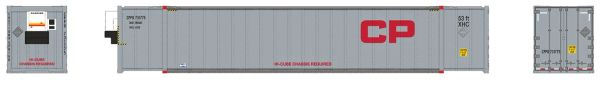 Rapido Ho Scale CP-Grey 53' Container 2 Pack