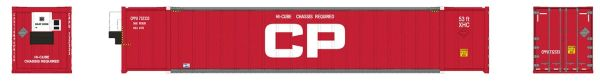 Rapido Ho Scale CP- Red 53' Container 2 Pack