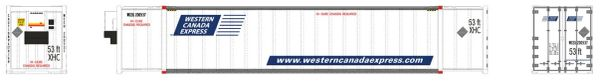 Rapido Ho Scale Western Canada Express 53' Container 2 Pack