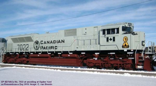 "Athearn Genesis 2.0 Ho Scale SD70ACu Canadian Pacific #9022 (Military ""Shipside Grey"" Scheme) DCC & Sound *Reservation*"