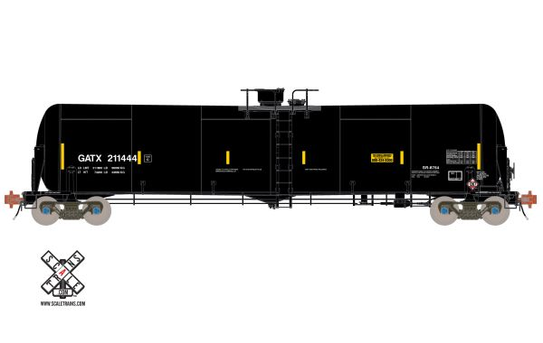 Ho Scale Rivet Counter Trinity 31K Tank Car with Head Shields GATX *Reservation*