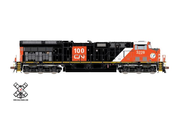 Scaletrains Rivet Counter Ho Scale ET44AC CN 100th Anniversary (White Roof) DCC & Sound *Reservation*