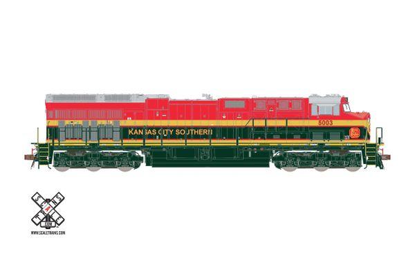 Scaletrains Rivet Counter Ho Scale ET44AC Kansas City Southern DCC Ready