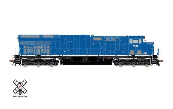 Scaletrains Rivet Counter Ho Scale ET44AC GE Demonstrator/Blue DCC & Sound *Reservation*