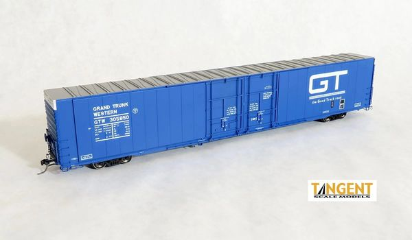 "Tangent Scale Models Ho Scale GTW ""Original 1977"" Greenville 86′ Double Plug Door Box Car"