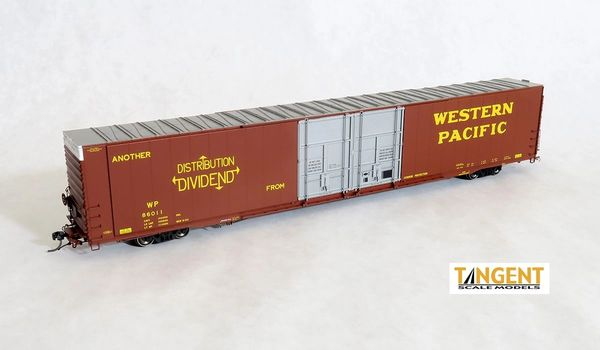 "Tangent Scale Models Ho Scale WP ""Original 1964"" 1966+ Era Greenville 86′ Double Plug Door Box Car"