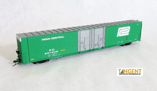 "Tangent Scale Models Ho Scale PC ""Repaint 1969+"" Greenville 86′ Double Plug Door Box Car"