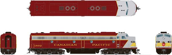 Rapido HO Scale EMD E8 Canadian Pacific (Early Maroon) DCC & Sound *Reservation*