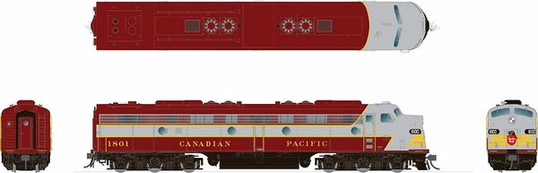 Rapido HO Scale EMD E8 Canadian Pacific (Later Maroon) DCC Ready *Reservation*
